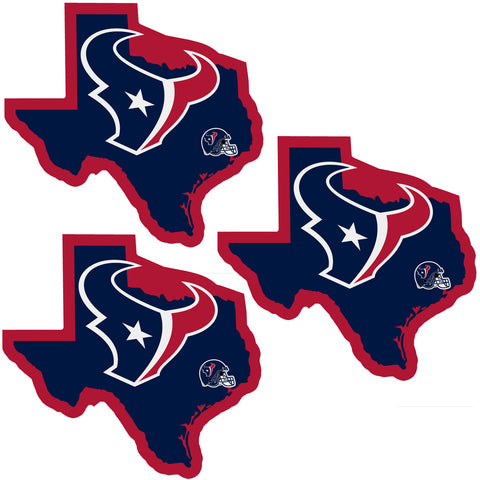 Houston Texans   Home State Decal 3pk