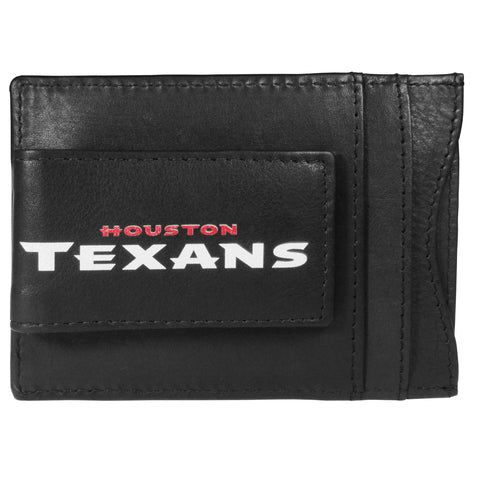 Houston Texans   Logo Leather Cash and Cardholder