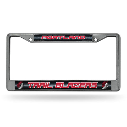 Portland Trail Blazers License Frame - Chrome Glitter