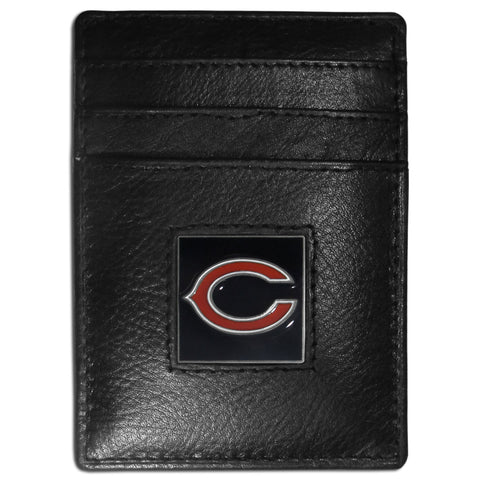 Chicago Bears   Leather Money Clip/Cardholder Packaged in Gift Box