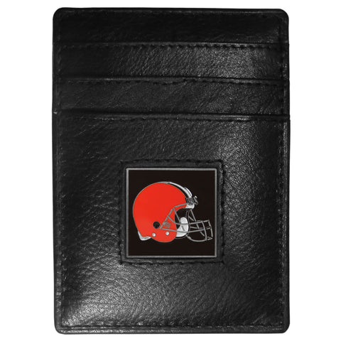 Cleveland Browns   Leather Money Clip/Cardholder Packaged in Gift Box