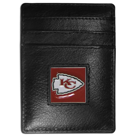 Kansas City Chiefs   Leather Money Clip/Cardholder Packaged in Gift Box