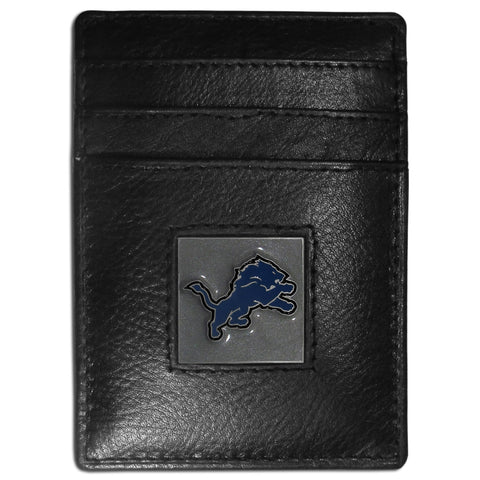 Detroit Lions   Leather Money Clip/Cardholder Packaged in Gift Box