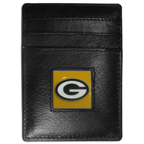 Green Bay Packers   Leather Money Clip/Cardholder Packaged in Gift Box