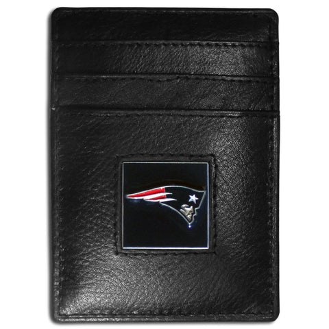New England Patriots   Leather Money Clip/Cardholder Packaged in Gift Box