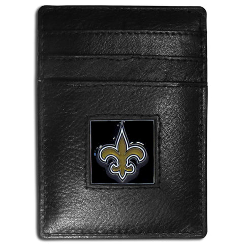 New Orleans Saints   Leather Money Clip/Cardholder Packaged in Gift Box