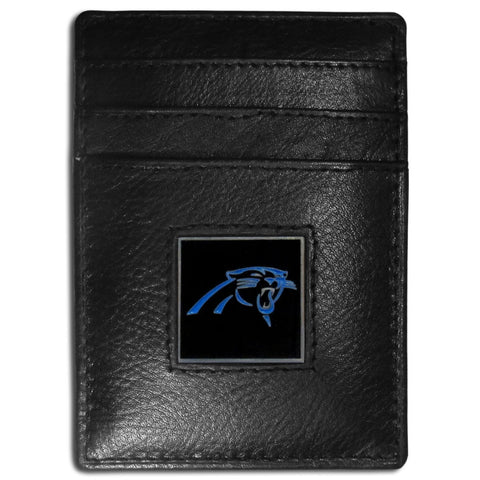 Carolina Panthers   Leather Money Clip/Cardholder Packaged in Gift Box