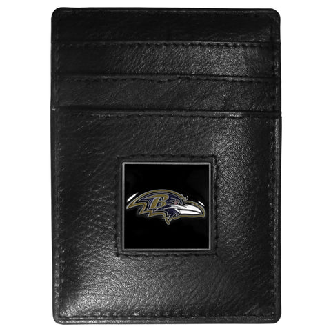 Baltimore Ravens   Leather Money Clip/Cardholder Packaged in Gift Box