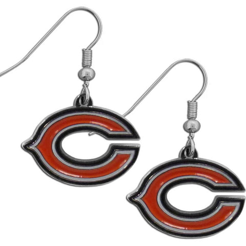 Chicago Bears   Chrome Dangle Earrings