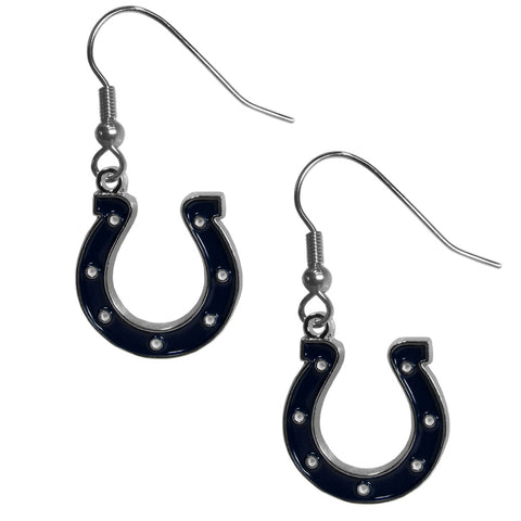 Indianapolis Colts   Chrome Dangle Earrings