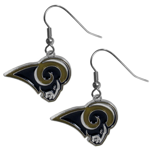 Los Angeles Rams   Chrome Dangle Earrings