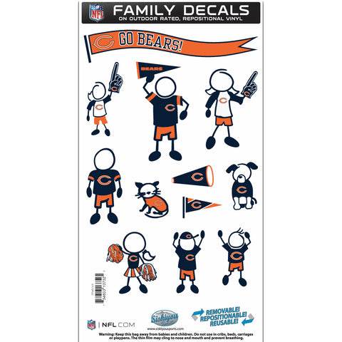 Chicago Bears   Family Decal Set Medium