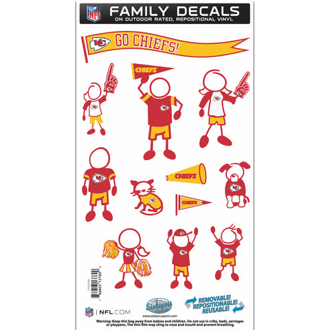 Kansas City Chiefs   Family Decal Set Medium