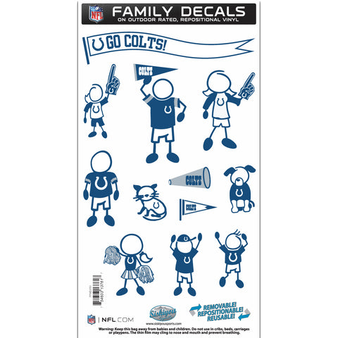 Indianapolis Colts   Family Decal Set Medium
