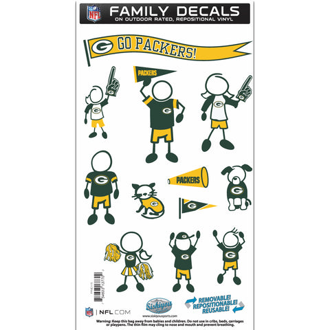 Green Bay Packers   Family Decal Set Medium