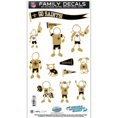 New Orleans Saints   Family Decal Set Medium