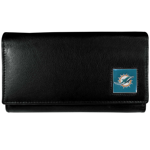 Miami Dolphins   Leather Women's Wallet