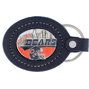 Chicago Bears   Leather Keychain