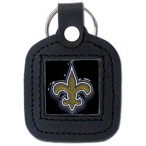 New Orleans Saints   Square Leatherette Key Chain