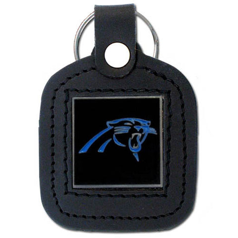Carolina Panthers   Square Leatherette Key Chain