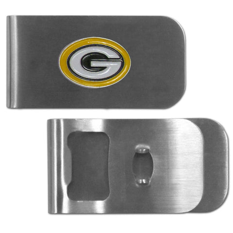 Green Bay Packers   Bottle Opener Money Clip