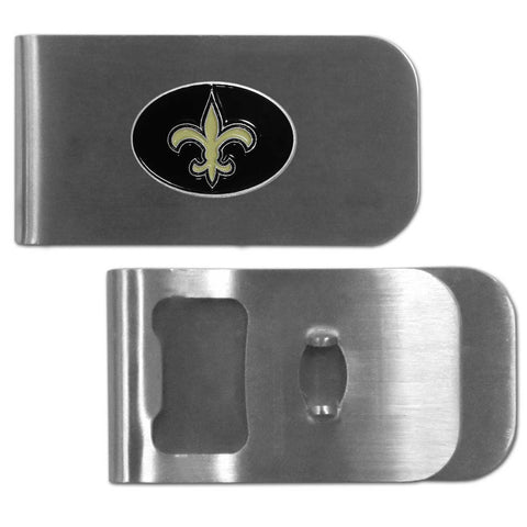 New Orleans Saints   Bottle Opener Money Clip