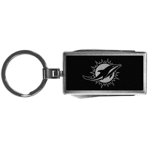 Miami Dolphins   Multi tool Key Chain Black