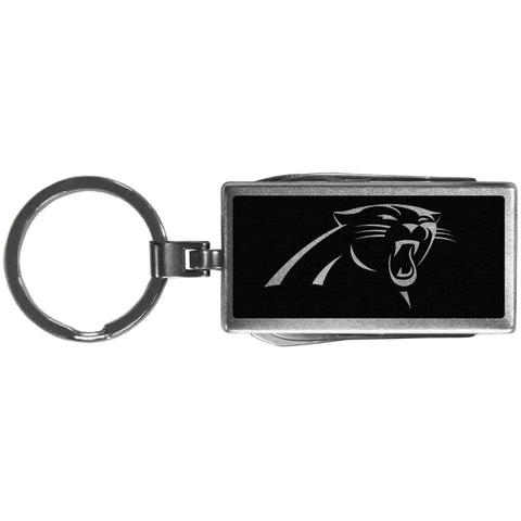 Carolina Panthers   Multi tool Key Chain Black