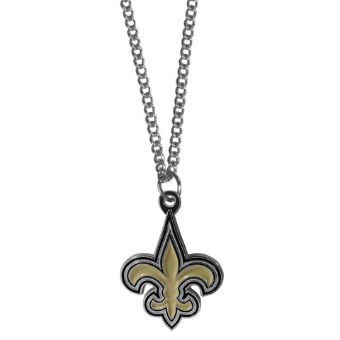 New Orleans Saints   Chain Necklace with Small Charm