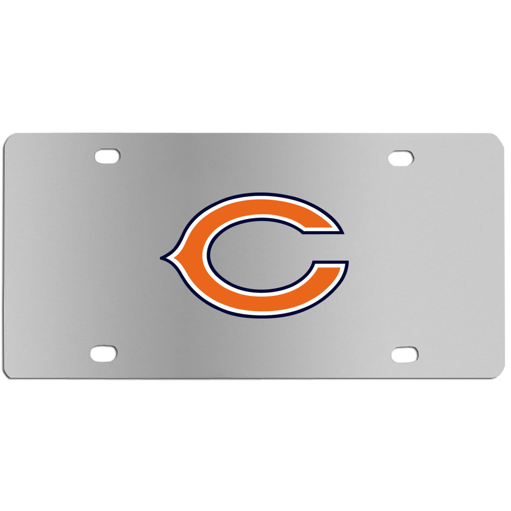 Chicago Bears   Steel License Plate Wall Plaque