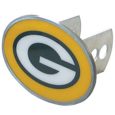 Green Bay Packers   Oval Metal Hitch Cover Class II and III