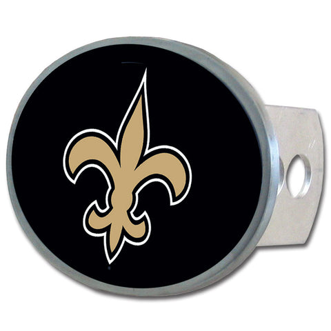 New Orleans Saints   Oval Metal Hitch Cover Class II and III