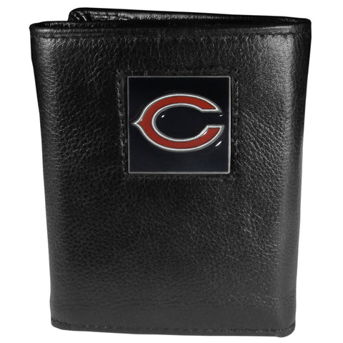 Chicago Bears   Leather Tri fold Wallet