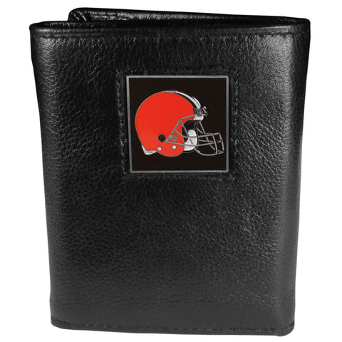 Cleveland Browns   Leather Tri fold Wallet