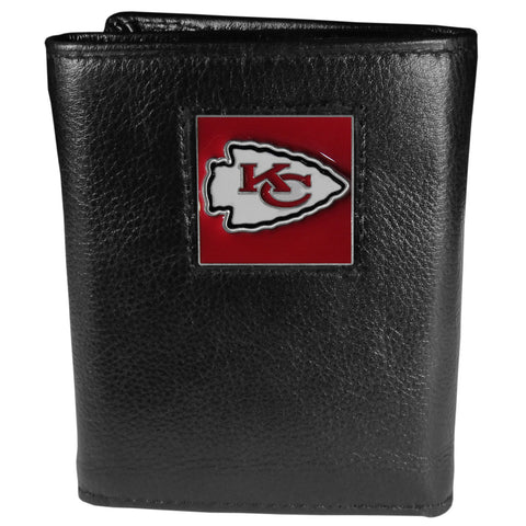 Kansas City Chiefs   Leather Tri fold Wallet