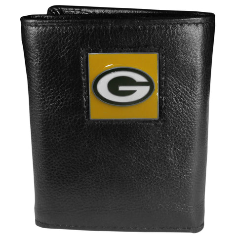 Green Bay Packers   Leather Tri fold Wallet