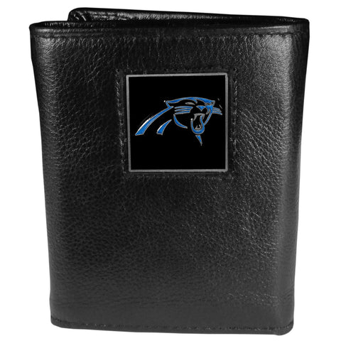 Carolina Panthers   Leather Tri fold Wallet