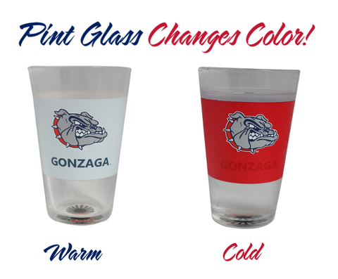 Gonzaga Bulldogs Color Changing Pint Glass