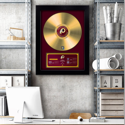 NFL Washington Redskins Championship Series 3X Vinyl Gold Record