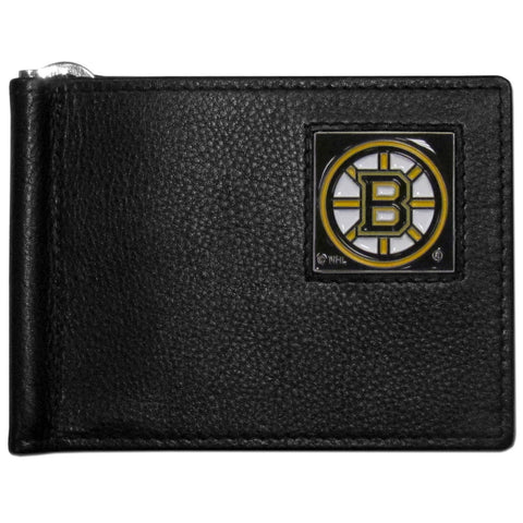 Boston Bruins   Leather Bill Clip Wallet