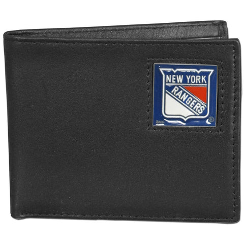 New York Rangers   Leather Bi fold Wallet Packaged in Gift Box