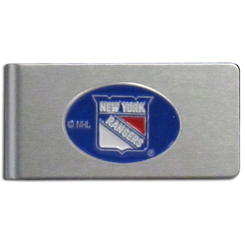 New York Rangers   Brushed Metal Money Clip