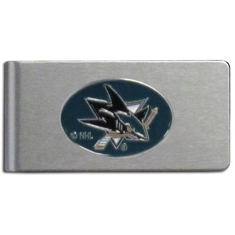 San Jose Sharks   Brushed Metal Money Clip