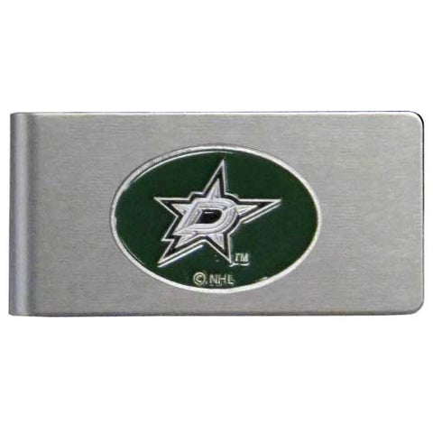 Dallas Stars   Brushed Metal Money Clip