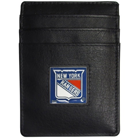 New York Rangers   Leather Money Clip/Cardholder Packaged in Gift Box