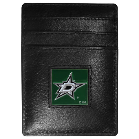 Dallas Stars   Leather Money Clip/Cardholder Packaged in Gift Box