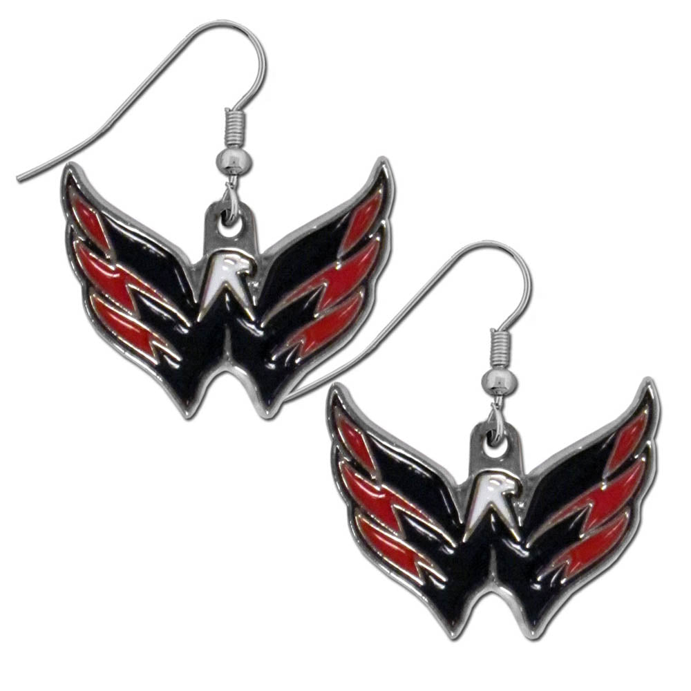 Washington Capitals   Chrome Dangle Earrings