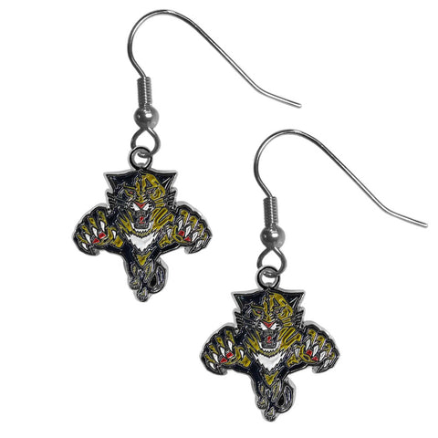 Florida Panthers   Chrome Dangle Earrings