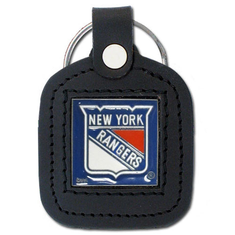 New York Rangers   Square Leatherette Key Chain
