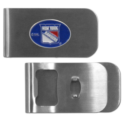 New York Rangers   Bottle Opener Money Clip